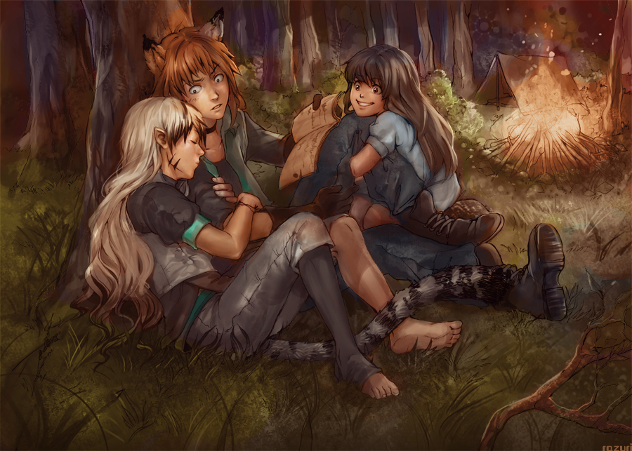 By the Campfire by Lapis-Razuri