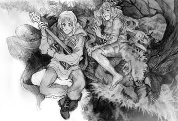 Gideon and Fyneia by Razurichan