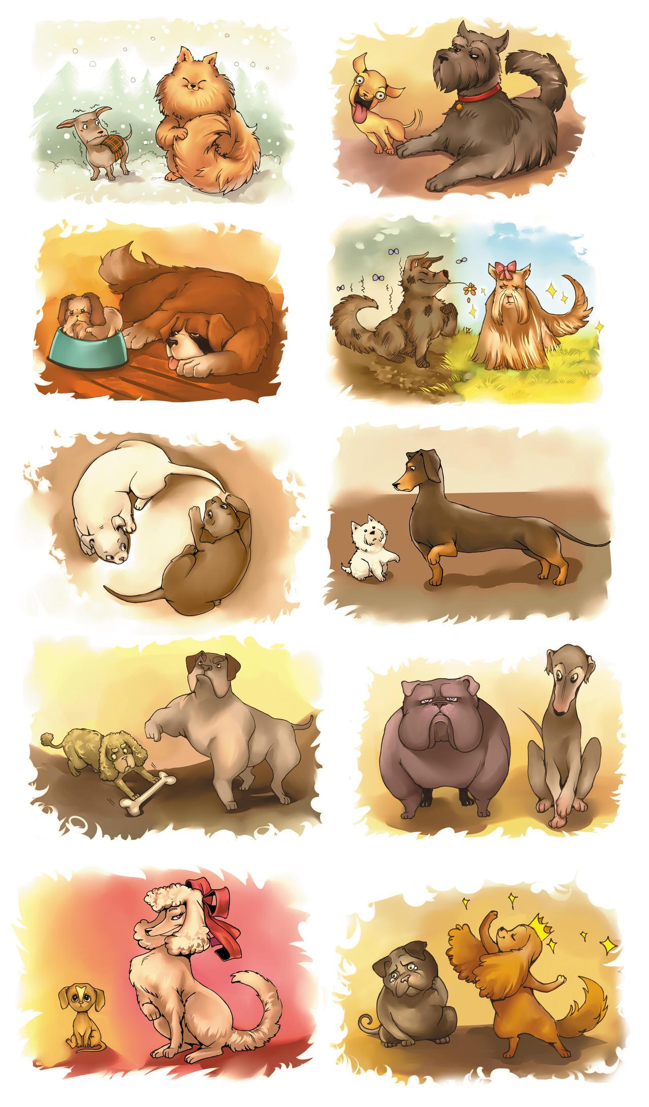 Doggies of Opposites by Razuri-chan