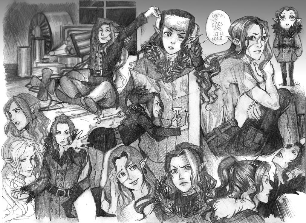 sketchpage commission-theElvishDevil by Lapis-Razuri