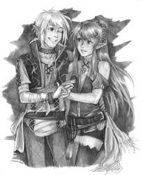 Cheryl and Lief by Razurichan