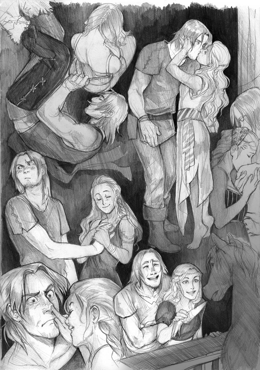 Baldur and Abyssiana by Lapis-Razuri