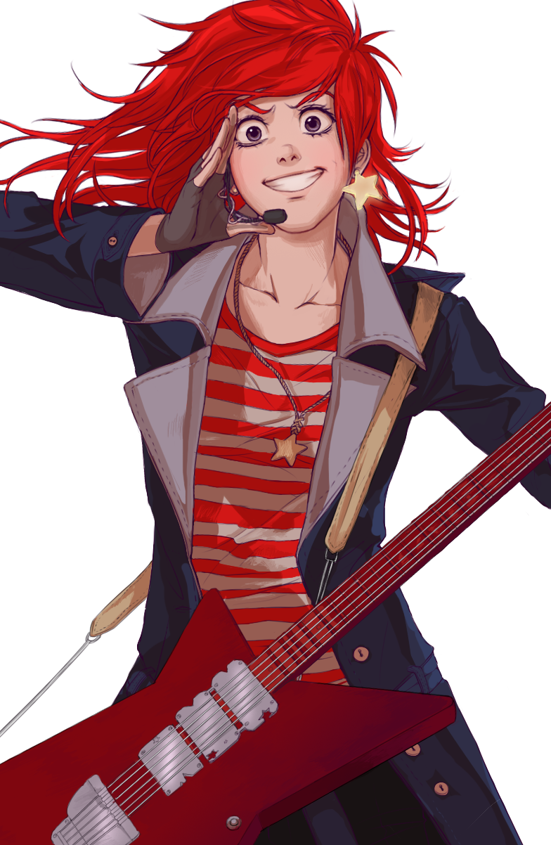 Rock on!! - close up by Razuri-chan