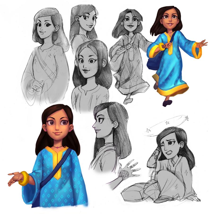 Sahar concept sheet by Lapis-Razuri