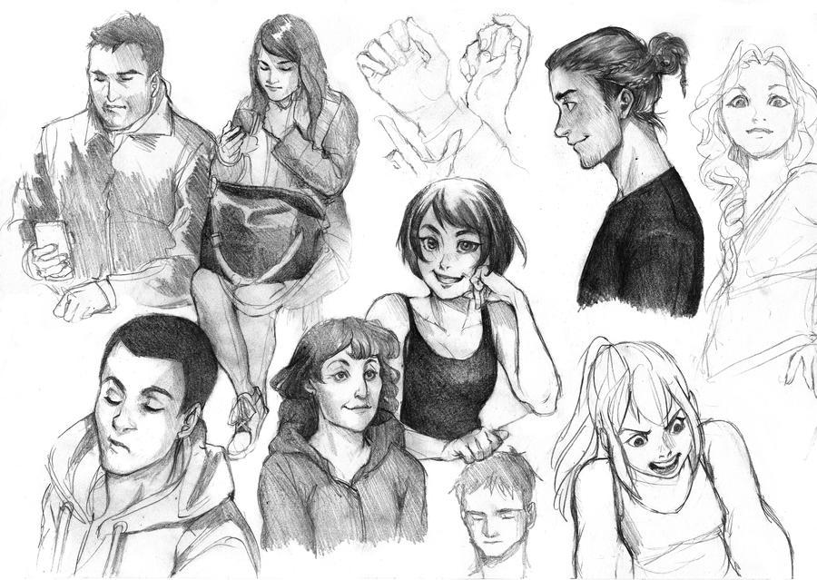 Practice doodles by Lapis-Razuri