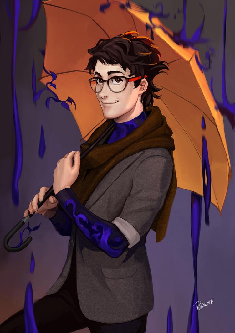 Paint the rain by Lapis-Razuri
