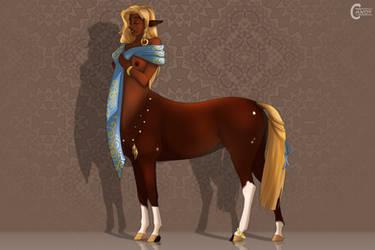 Centaur Girl - Nephele by FeatherCandy
