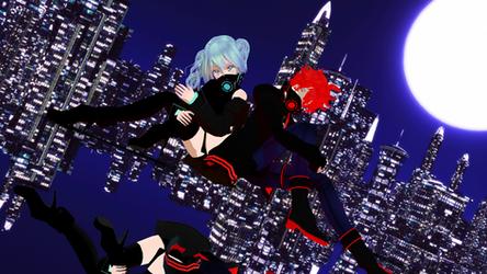 DL:[Neon Toxic] Miku and Fukase by MacyStarMoon