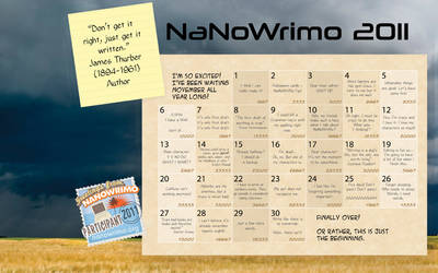 Calendar for Nanowrimo by maia-san
