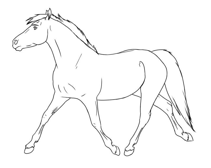 Trotting Horse by silverglass19 on DeviantArt