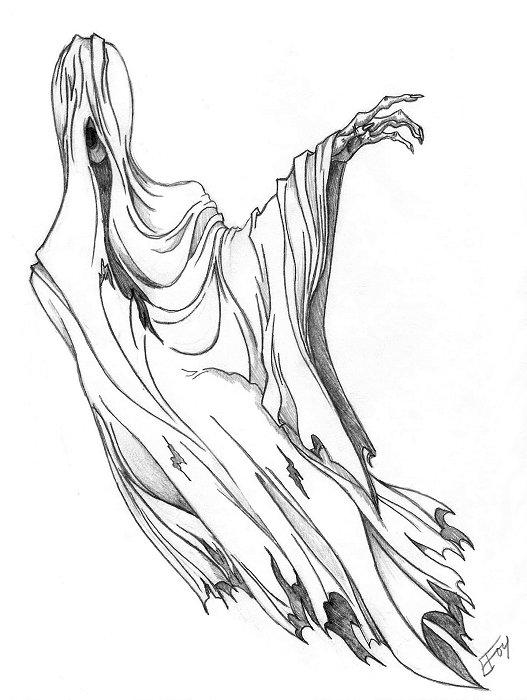 Dementor of azkaban by silverglass19 on deviantart for Dementor coloring pages