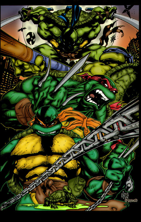 tmnt colours by graphicartery on deviantart