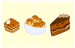 cute foods - cake selection