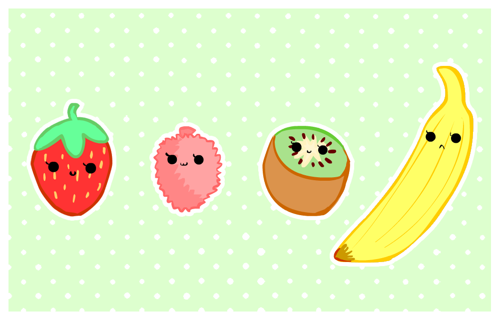cute foods - fruit selection by purapea on DeviantArt