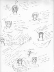 Concept sketches of species by AikuraWind-dancer