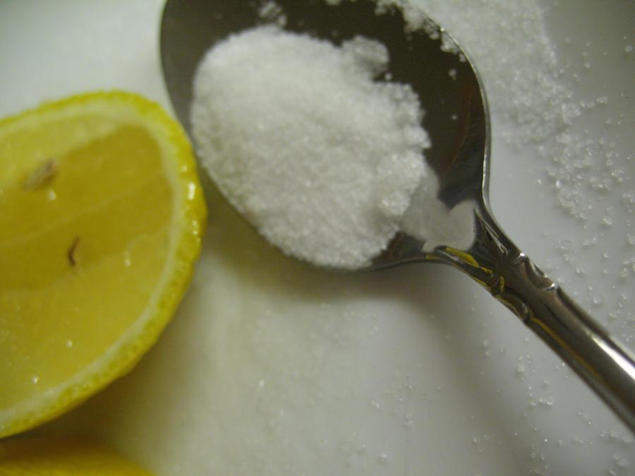 lemon and spoon by Goldphishy