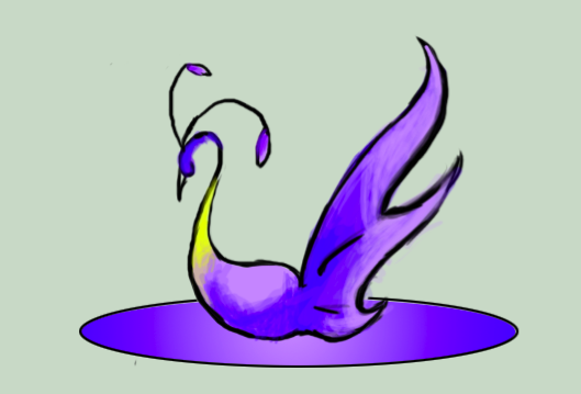 swan logo by Goldphishy