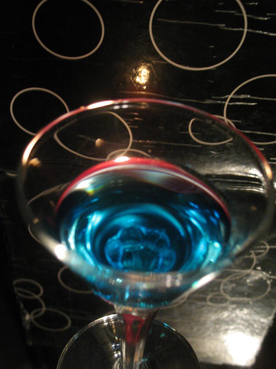 blue drink by Goldphishy