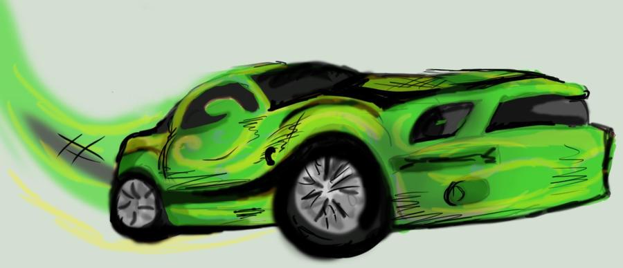 green mustang by Goldphishy