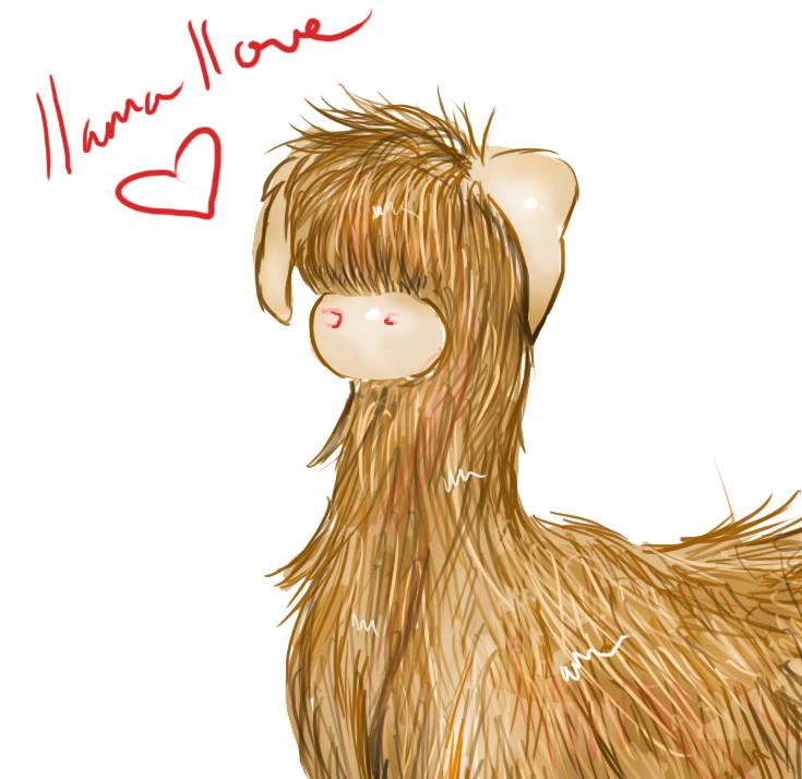 llama llove by Goldphishy