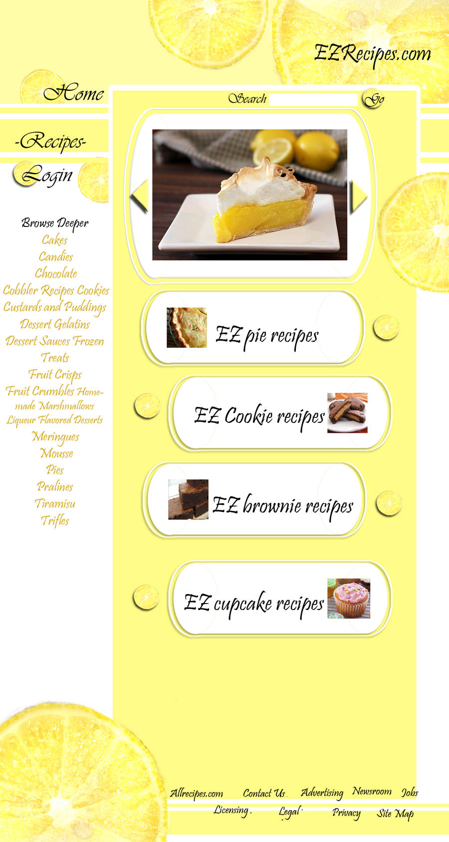 recipe website by Goldphishy