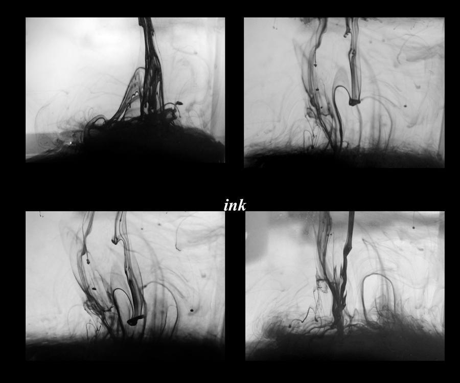 ink in water by Goldphishy