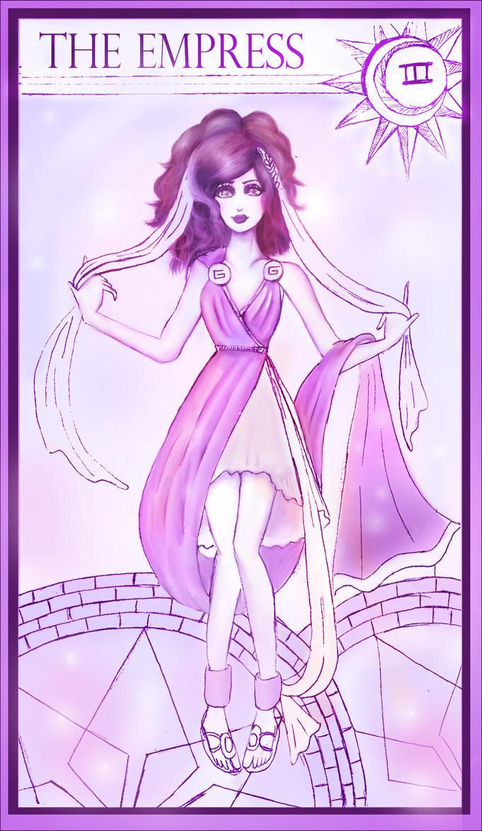 tarot cards-3 goddess by Goldphishy
