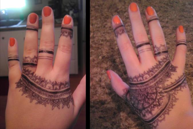 hand tattoos by Goldphishy