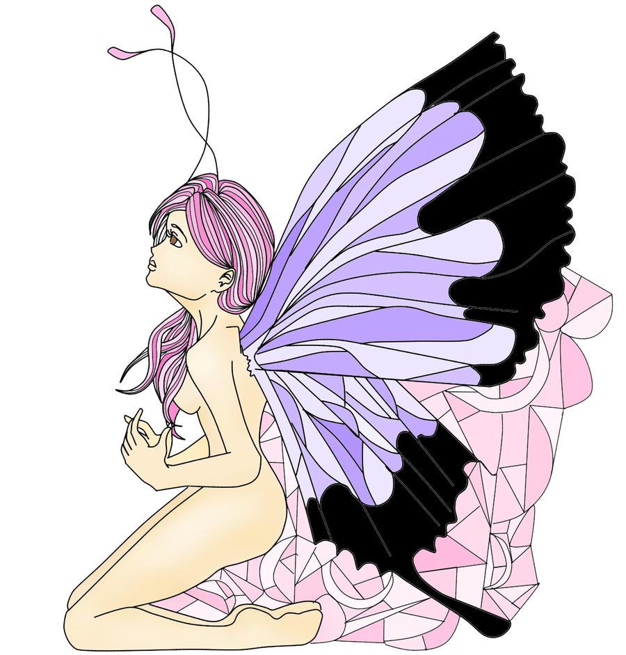 butterfly angel by Goldphishy