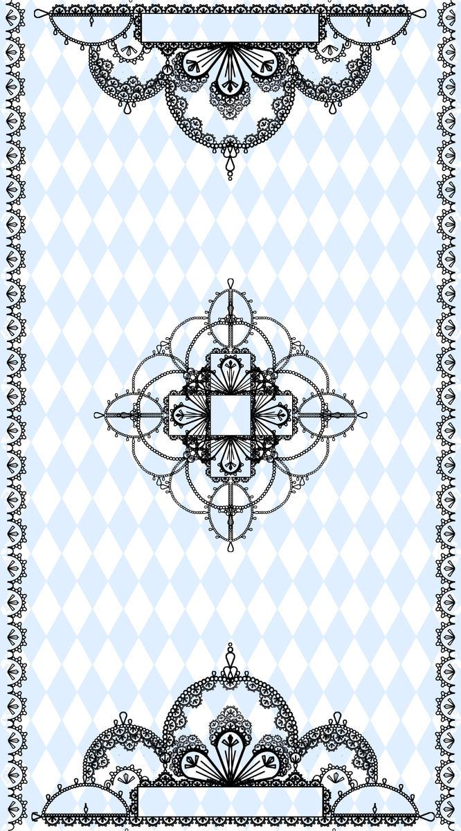 tarot card back by Goldphishy