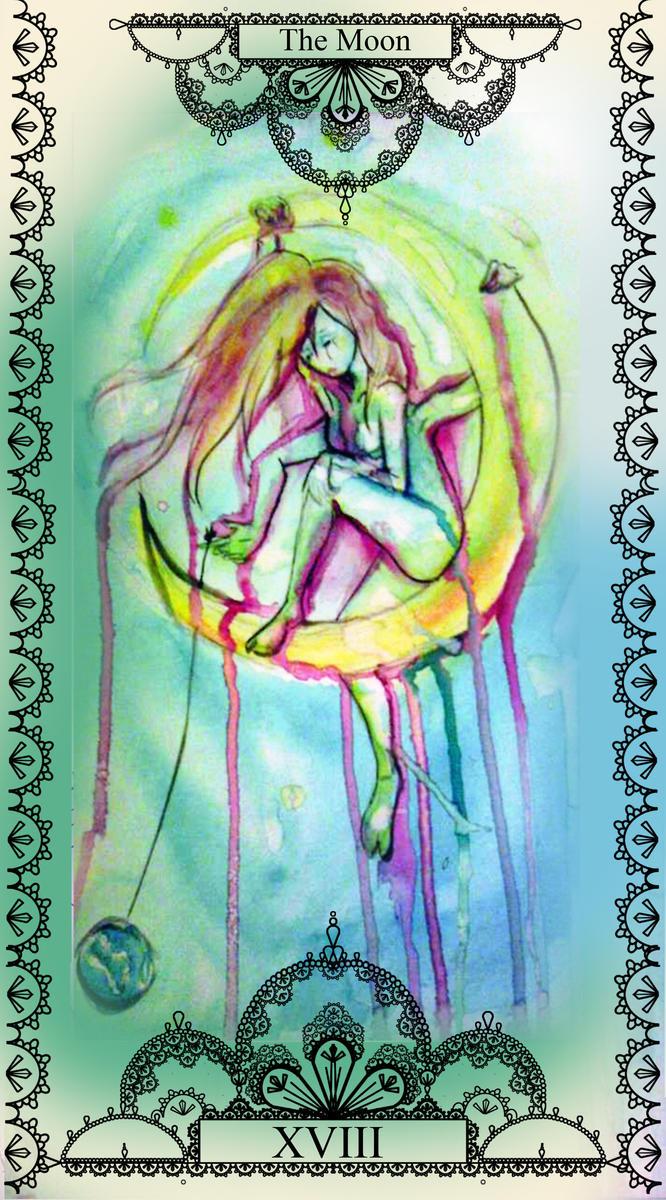 moon tarot by Goldphishy