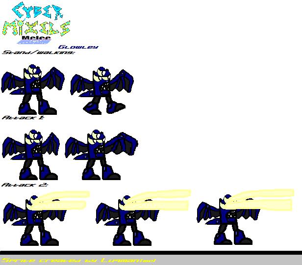 CMM Sprites - Glowley by Luqmandeviantart2000