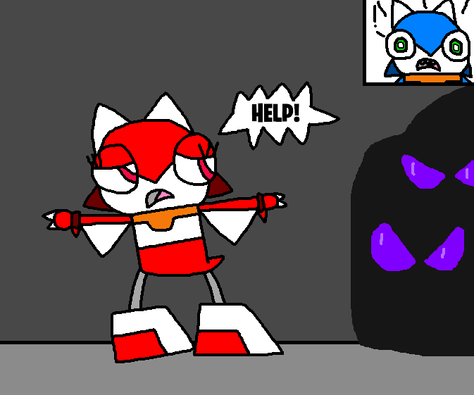 Mixels: Rubigail being chased by Dark Mixels by Luqmandeviantart2000