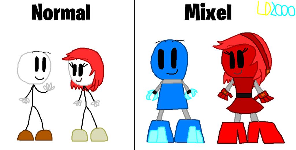 MixelsXHSS: Henry and Ellie as Mixel by Luqmandeviantart2000
