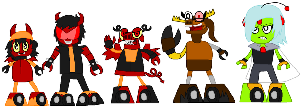 Mixels: 50FW: Demonicons, Oaklin and Cosmina by Luqmandeviantart2000