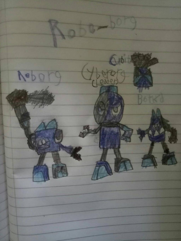 Mixels: OC's tribes: Robo-borg by Luqmandeviantart2000