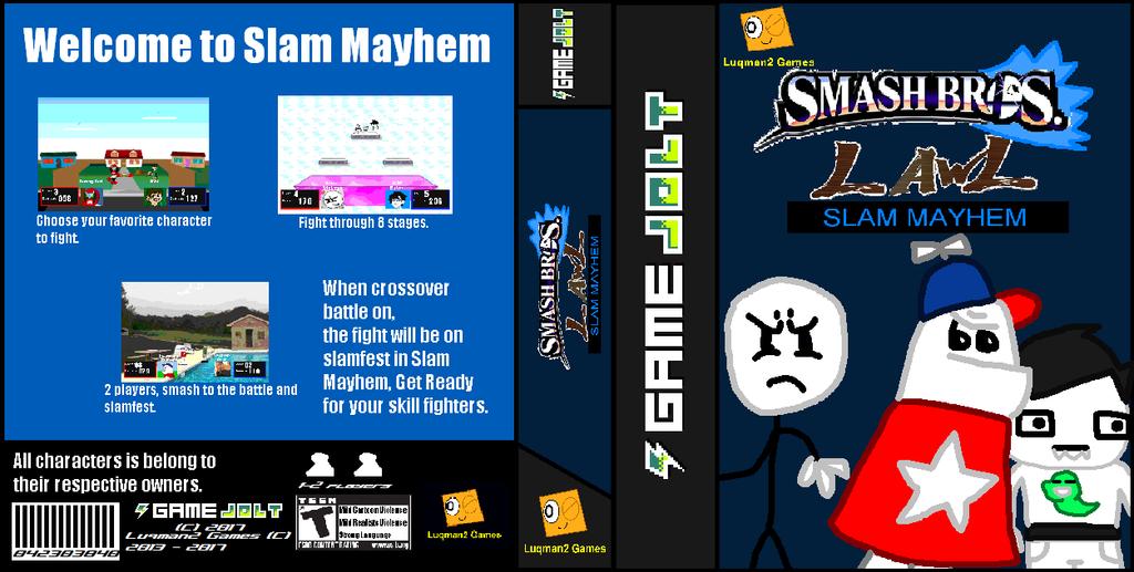 GameJolt Box: Smash Bros Lawl Slam Mayhem by Luqmandeviantart2000