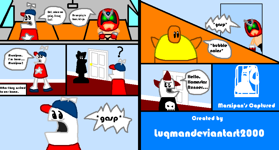 Homestar Runner: Marzipan's Captured page 1 and 2 by Luqmandeviantart2000