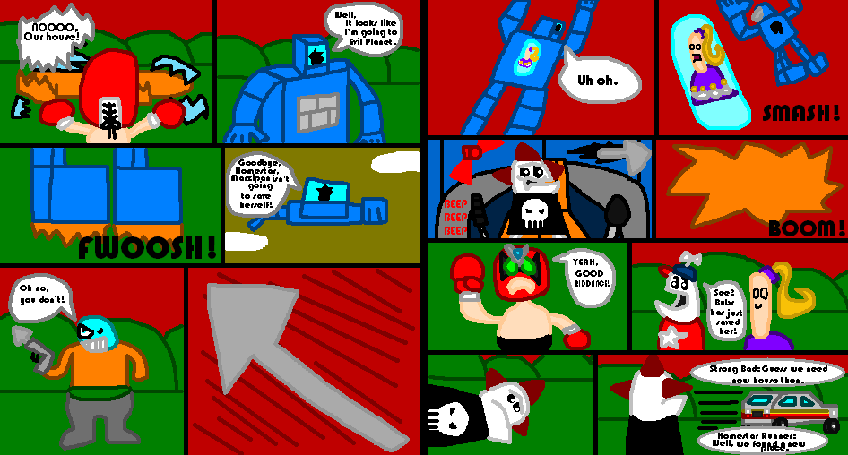 Homestar Runner: Marzipan's Captured page 7 and 8 by Luqmandeviantart2000