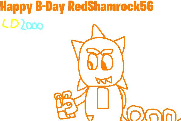 Happy B-Day RedShamrock56 by Luqmandeviantart2000