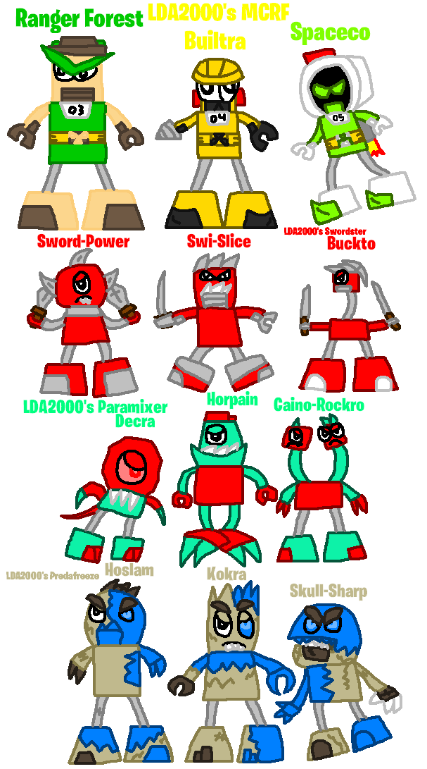 Mixels: OC's tribes: 4 LDA2000's Tribe Additions by Luqmandeviantart2000