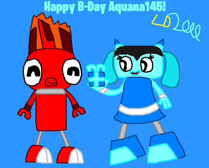 Happy B-Day Aquana145 2017 by Luqmandeviantart2000
