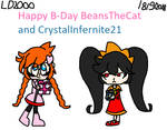 Happy B-Day BeansTheCat and CrystalInfernite21