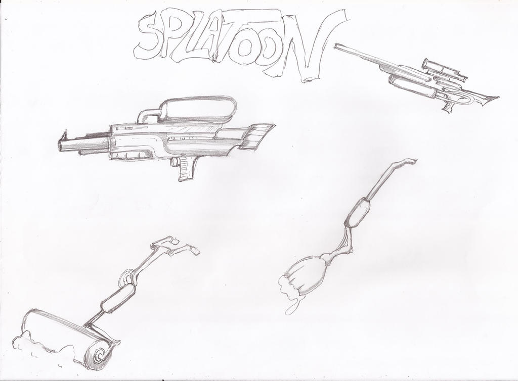 Splatoon's weapons by sakuchaoran
