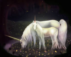 Unicorn + Babycorn by Limerry