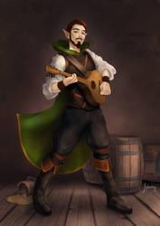 Auric Amell the High Elf Bard