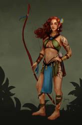 Karra Alanavel, Wood Elf ranger/monk