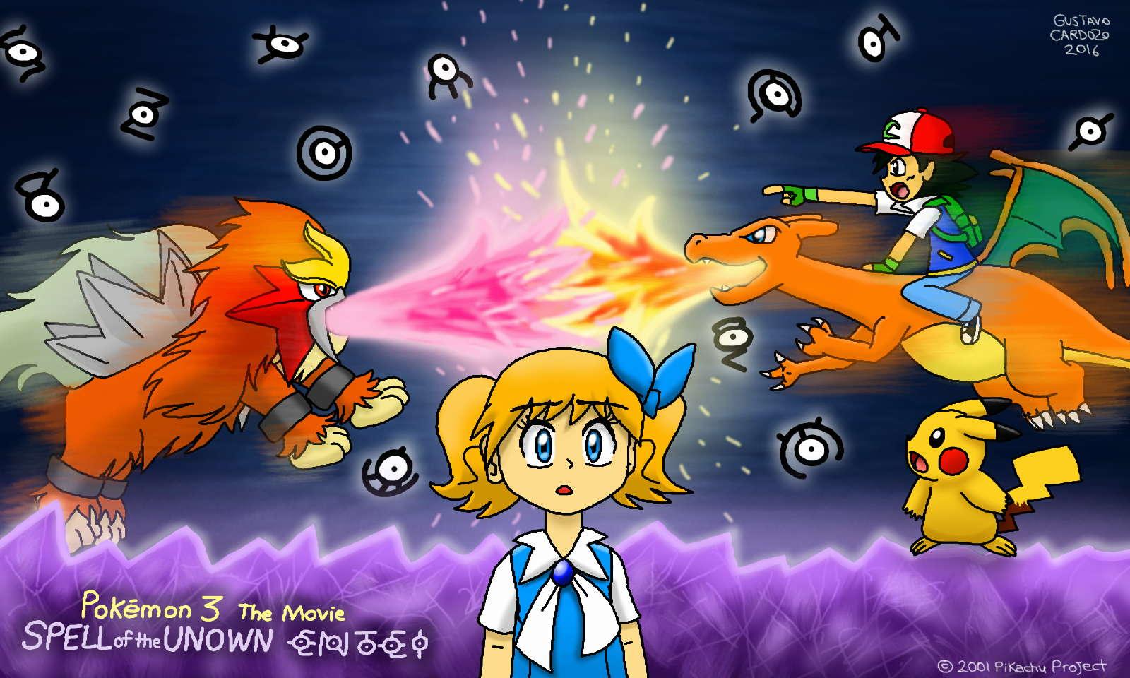 Pokemon 3 Spell Of The Unown Entei Fan Art By