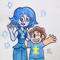 Blue and Steven by GustavoCardozo97
