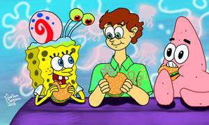 Stephen Hillenburg and his friends